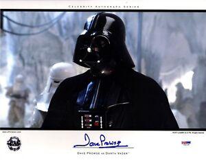 DAVE PROWSE Signed Darth Vader STAR WARS 11x14 Official Pix Photo PSA/DNA V50128