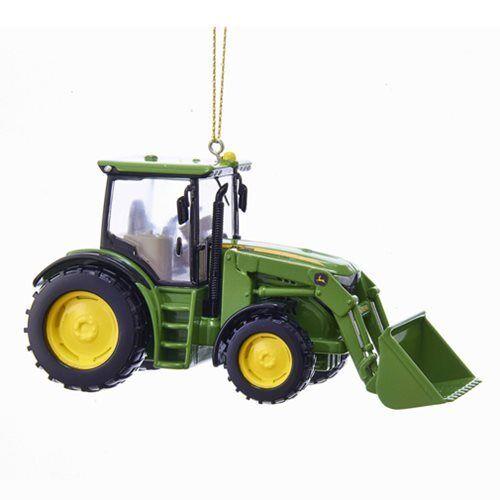 Tractor Kurt S Adler John Deere Loader Ornament Christmas Holiday NEW