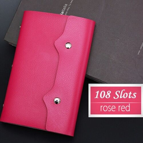 108 Card Slots Business Credit Card Bank Card Holder PU Leather Card Wallet