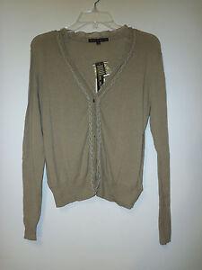 Antonio-Melani-New-Womens-Rochelle-Dark-Driftwood-Cardigan-Sweater-Small