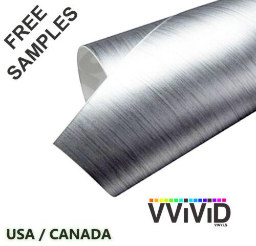 """Brushed Aluminium VViViD BAL3M01 2.5ftx5ft 30/""""x60/"""" Car Vinyl Wrap Air Release"""
