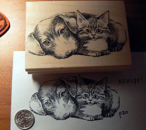 Dog-and-cat-friends-Rubber-stamp-WM-P20