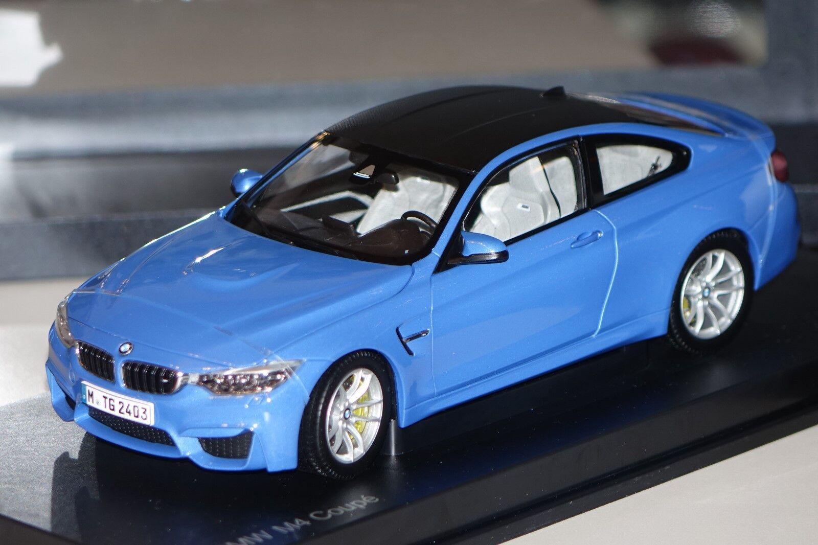 Bmw m4 Coupe f82 azul metalizado Paragon bmw 80432339607 1 18 nuevo embalaje original &