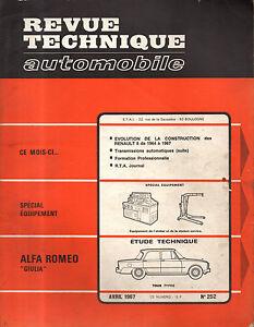Rta Revue Technique Automobile N° 252 Alfa Romeo Giulia 1967