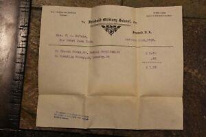 Vintage Freehold Nj Militaire École Documents, 4 Pièces, Daté 1913-1914 ~# 556C