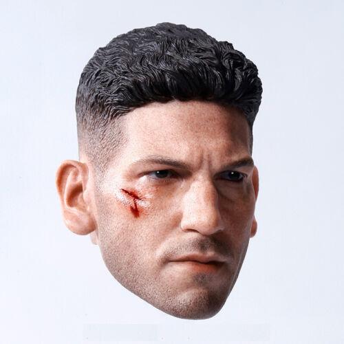 1//6 Punisher Head Sculpt Jon Bernthal CUSTOM For Hot Toys PHICEN Male Body ❶USA❶