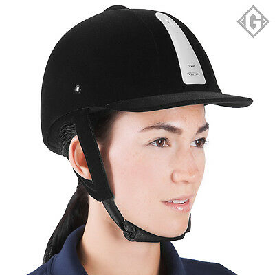 Gallant Horse Riding Helmet Hat Equestrian Safety Black Velvet Air Vented Hats