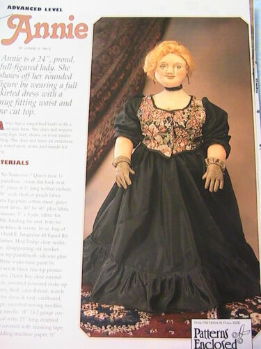 "LADY ASCOT~Judith Prior *RARE OOP 16/"" whimsical cloth art doll pattern 2013"