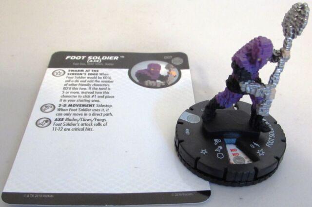 FOOT SOLDIER (AXE) 007 Teenage Mutant Ninja Turtles 4 Unplugged TMNT IV HeroClix