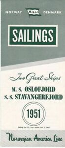 1951-Eastbound-Sailing-Schedule-for-the-M-S-Oslofjord-and-S-S-Stavangerfjord