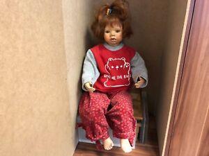 Angels Paradise Artist Doll Poupée De Porcelaine 72 Cm.   En parfait état.