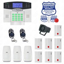 Wireless House Alarm Kit Security System Voice Prompt Backlit Screen US Plug FG