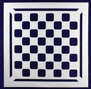 checker chess board w border stencil 14 mil mylar 15 x 15