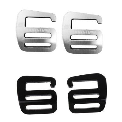4 Pcs 1/'/' G Hook Outdoor Webbing Buckle Luggage Sack Strap Belt 25mm Black