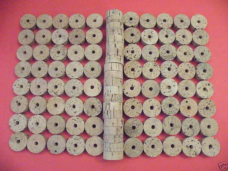100 Anillos de corcho 1 1 2  orificio X1 2  1 4  grado B-Envío Gratis