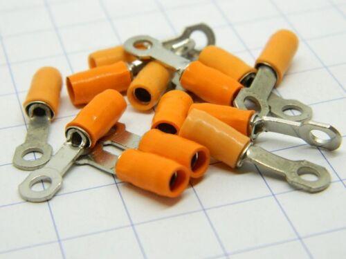 n.12 pezzi Capicorda terminale isolato in Teflon foro mm.3 cavo 1,5mmq. #