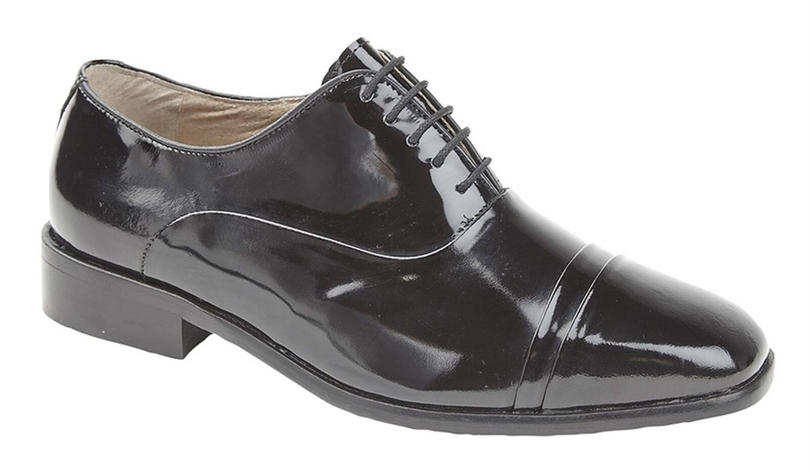 Mens shoes Coated Leather Sole Hi Shine Lace Up Oxford Formal Dress
