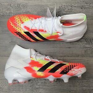 Men-s-Adidas-Predator-Mutator-20-1-Firm-Ground-Soccer-Cleats-Size-7-5-White-Red