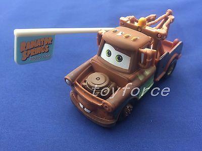 Mattel Disney Pixar Cars 2 Race Team Mater With Flag Metal Diecast Toy Car 1:55