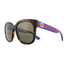 b196079354069 Gucci Sunglasses GG0034S 004 Havana Glitter Blue and Red Brown Gradient
