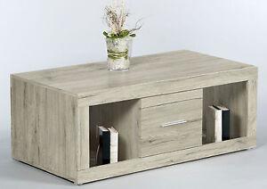 couchtisch can can san remo eiche hell 115 x 42 x 60 cm schublade wohnzimmer ebay. Black Bedroom Furniture Sets. Home Design Ideas