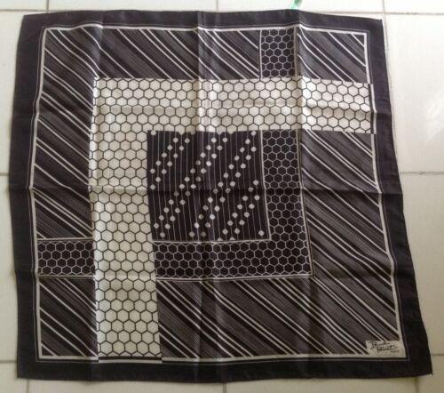 Women's Vintage Paul Poiret Paris scarf, black/whi