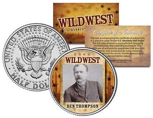 BEN-THOMPSON-Wild-West-Series-JFK-Kennedy-Half-Dollar-U-S-Coin