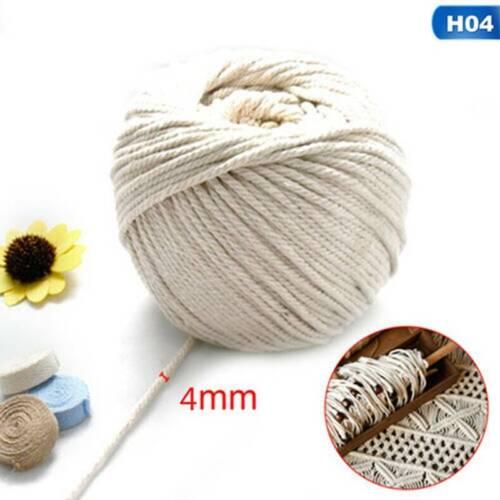 1//2//3//4//5 mm Cotton Twisted Cord Rope Artisan Macrame String DIY Craft us