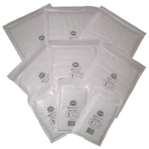 "5 JL5 White JIFFY Bubble Padded Mail Bags 260x345mm Genuine Airkraft 10/"" x 13.5/"""