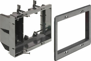 ARLINGTON TVBR505K Two-Gang Recessed TV Box Kit for Power and Low Voltage