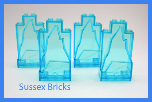 4x trans blue ice rock panneaux muraux 47847 arctic batman city-nouvelles pièces Lego