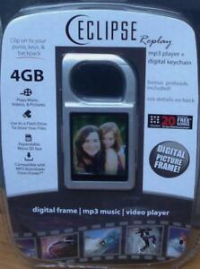 Eclipse-Replay-4gb-Digital-Picture-Frame-Keychain-MP3-Player-SILVER-COLOR-NEW
