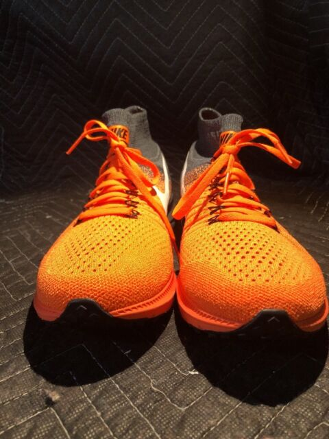 5c92ad5d0303 Nike Zoom All out Flyknit Size 10 Orange White Black 844134-800 Mens Shoes