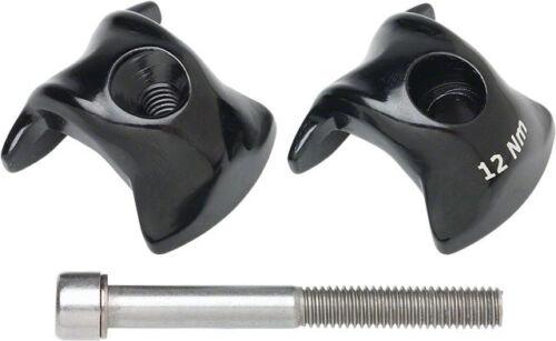 New Ritchey Alloy 1-bolt Seatpost Clamp Kit 7x9.6mm Rails Black