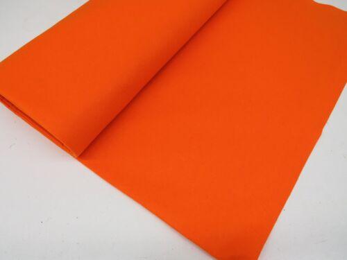 Tela naranja de fieltro Bayeta Para Mesas De Poker//tarjeta de 60 pulgadas de ancho compre lo que usted necesita