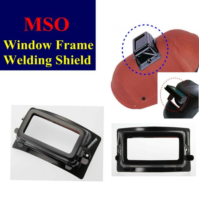 New MSO Welding Helmet Shield Window Frame Cartridge Open & Shut Iron Plate