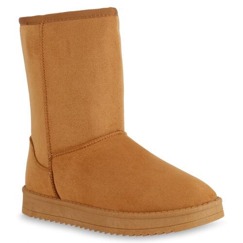 Damen Schlupfstiefel Warm Gefütterte Stiefel Winter Plateau Boots 825396 Schuhe