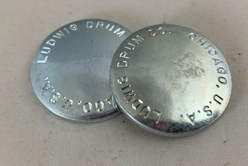 LUDWIG PS1228 Speed King Grease Caps Parts Lot of 2x NOS Bass Kick Drum Pedal