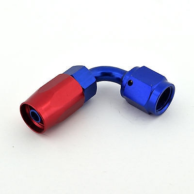 4AN Straight Black Swivel Hose End Fitting Oil Fuel Coolant for Braided AN4