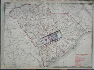 1773 SC MAP Conway South Carolina Old History Genealogy SURNAMES IT/'S HUGE !!!