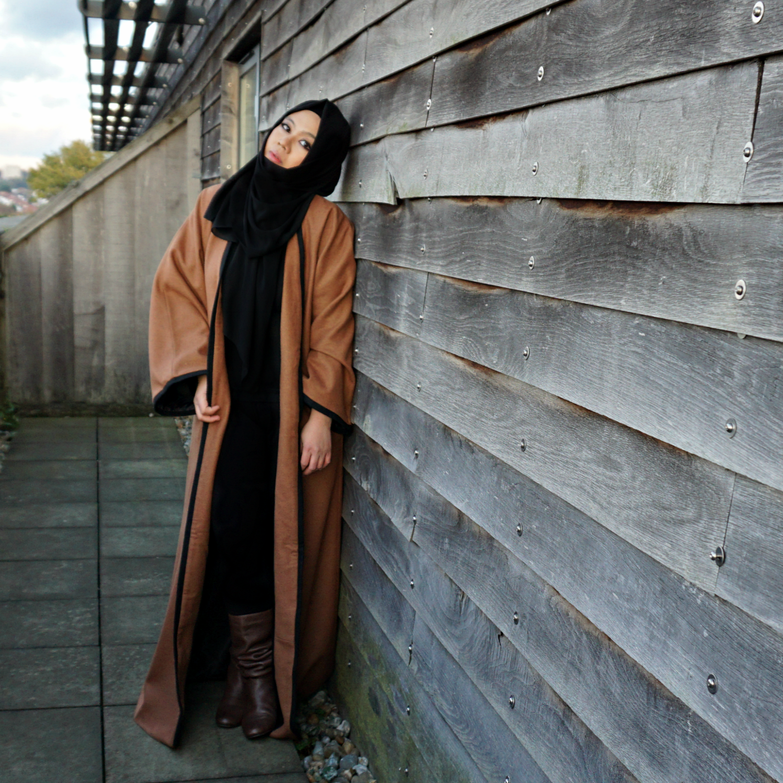 Warm Winter/Autumn Abaya in Camel Colour