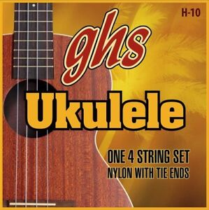 GHS H-10 Nylon Ukulele Strings - Soprano/Concert - Black Nylon
