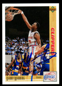 Danny Manning #164 signed autograph auto 1991-92 Upper Deck Basketball Card