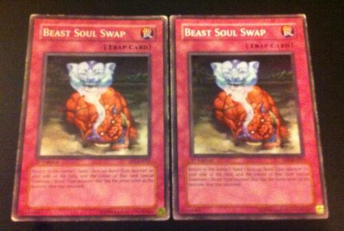 2 x Card YuGiOh FET-EN055 Beast Soul Swap worn