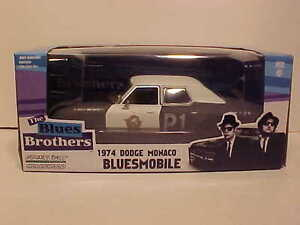 Blues-Brothers-1974-Dodge-Bluesmobile-Police-Diecast-Car-1-24-Greenlight-8-inch