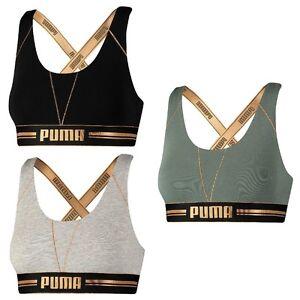 puma sport bh weiß gold