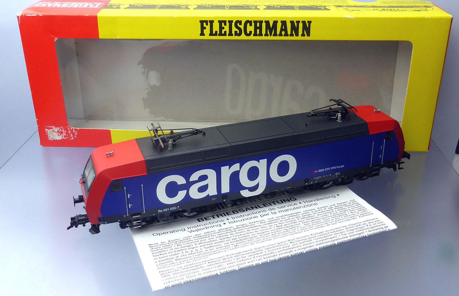 Fleischmann 4323; ELLOK re 481 005-7 SBB Cargo, DSS, in scatola originale/f746