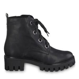 Details zu Tamaris 1 1 25207 23 056 Schuhe Damen Touch it Schnürboots Stiefeletten schwarz