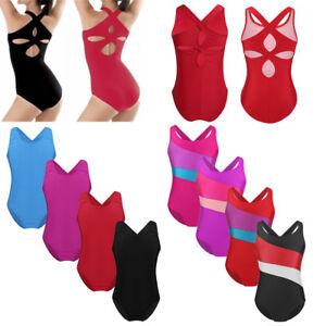 4c7b50c279f0 Child Kids Girls Gymnastics Ballet Dance Leotard Sleeveless Cutout ...