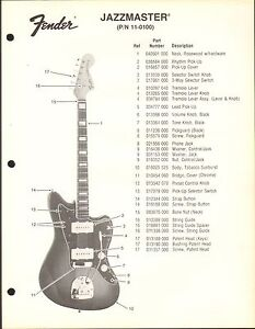 Fender Bass Guitar Accessories : vintage ad sheet 3581 fender guitar parts list telecaster 11 1300 ebay ~ Russianpoet.info Haus und Dekorationen